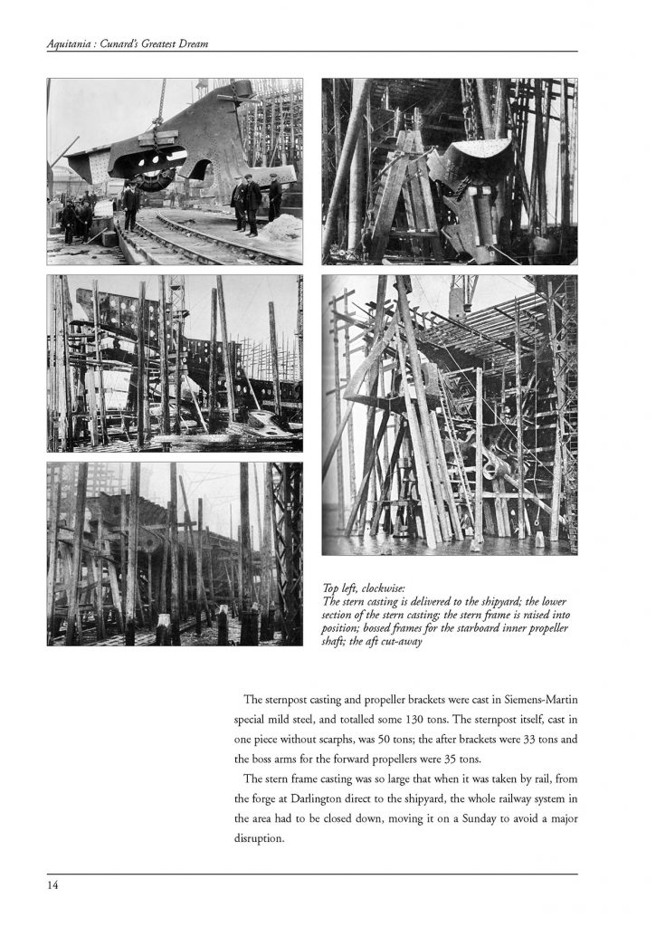 Aquitania construction