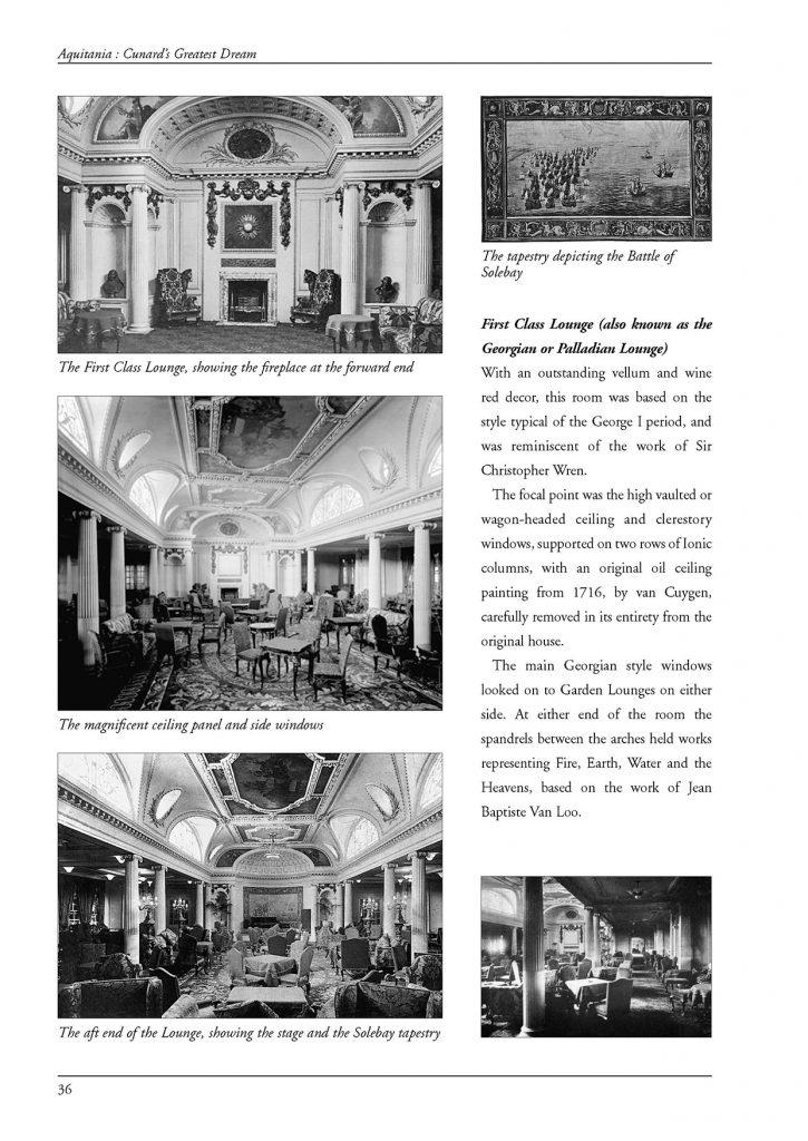 Aquitania interiors