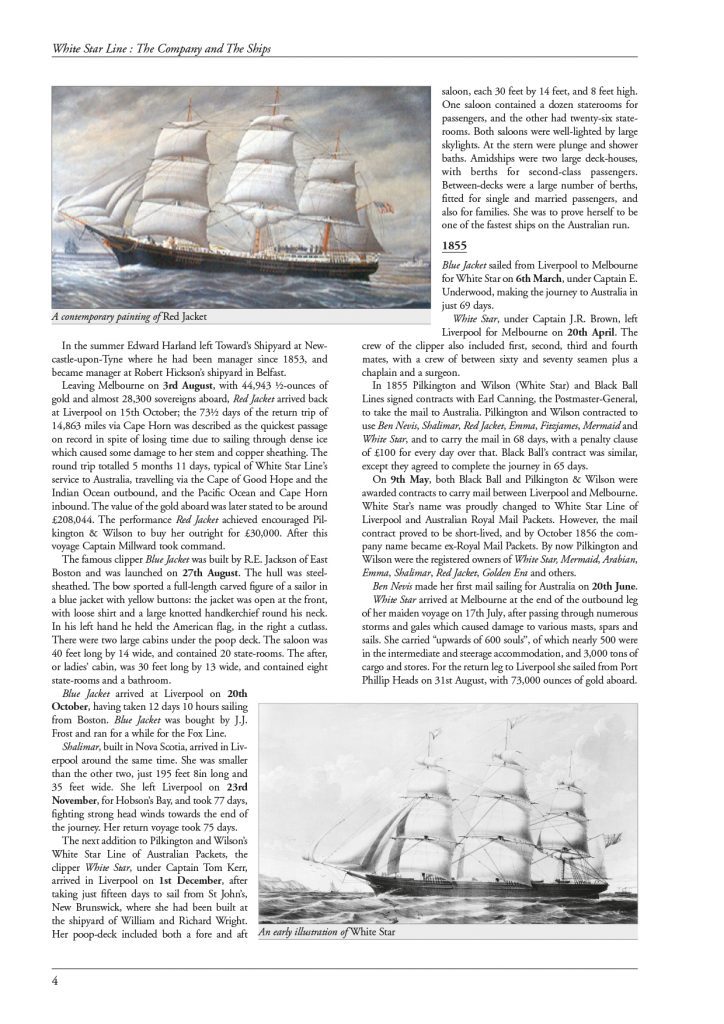White Star Line – page 4