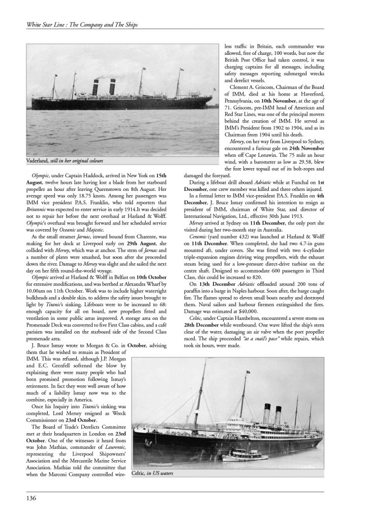 White Star Line – page 136