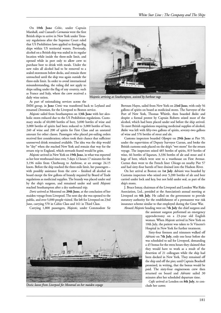 White Star Line page 181