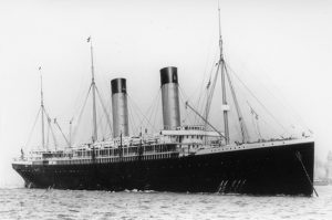 Oceanic at anchor