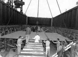 USS US keel 1949