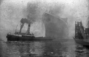 britannic launch and tugs