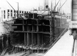 Suevic in drydock