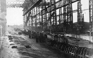 building the keel for titanic