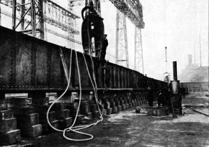 hydraulic riveting of titanic's keel