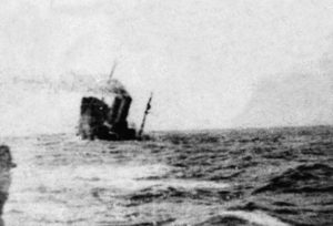 THE SINKING OF SS CAMERONIA AFTER BEING TORPEDOED 160 MILES EAST