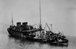 Georgic sunk, stern