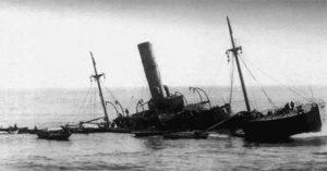 caribou sinking (?)